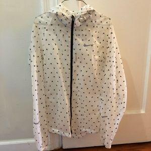 Nike Women's White Translucent Rain Jacket w/ Hood